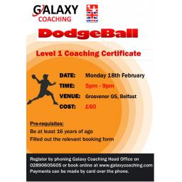 Dodgeball Level 1 Coaching Certificate
